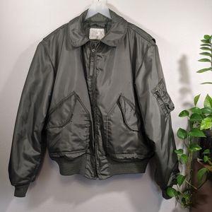 Vintage Military Bomber Mens Jacket XL